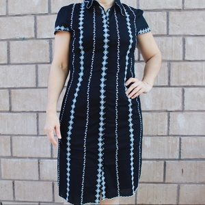 Vintage buttons down midi dress